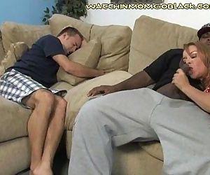 Son Sees Interracial..