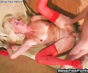 Sex with mature in red..