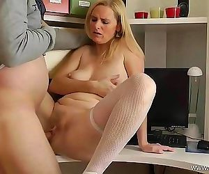 Mom alone at HomeFuck..