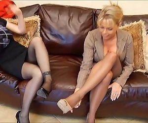Mature feet smelling -..