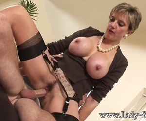 Lady Sonia fucks 2 guys..