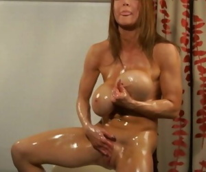 Busty Bodybuilder Oil..