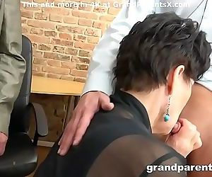 Senior couple fucks hot..
