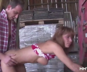 Sexy Busty Granny in..