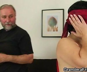 Young guy helps mature..