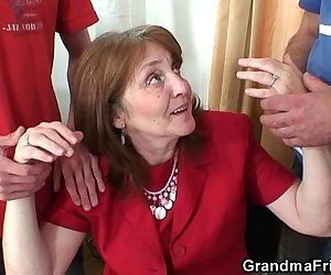 Old bitch takes it from..