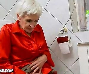 Hairy granny gets..