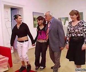 Hot babes suck grandpas..