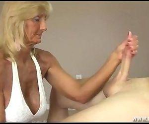 Horny Granny Jerking..