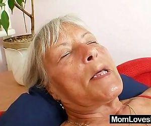 Ugly grandma Cecilie..