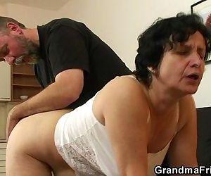 Granny in white..