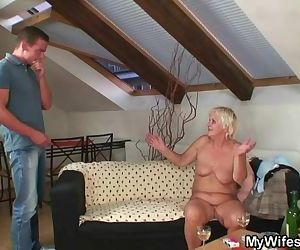 Hot orgy with granny..
