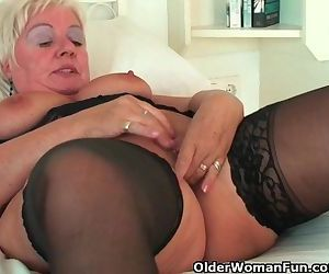Chubby granny with big..