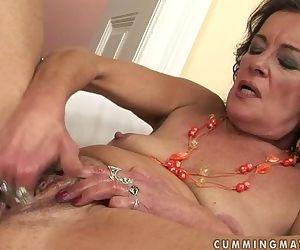 Horny granny masturbate..