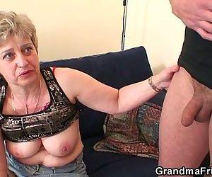 Grandma in black..