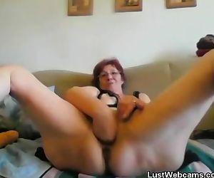 Horny granny fists..