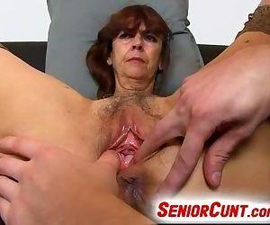 Very old hairy vagina..