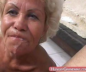 Blonde grandma Ella..