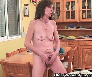 Saggy Grandma Gives Her..
