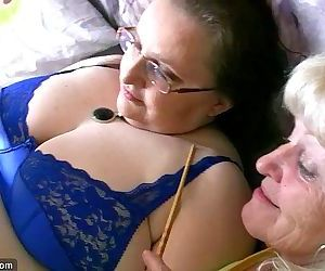 Chubby granny and old..