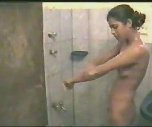 Desi couple bathing and..