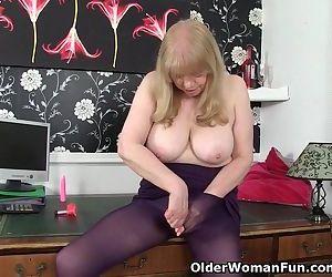 British granny with big..