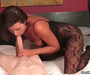 Hot milf dick sucking