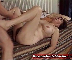 Hairy granny slit..