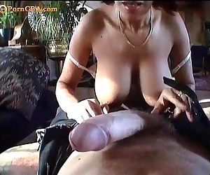 Hairy milf with big..