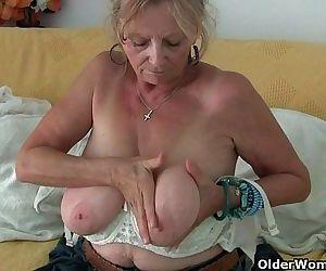 Big boobed granny..