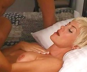 White blonde milf gets..