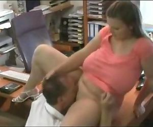 Busty secretary in the..