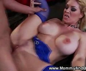 Big titted milf gets a..