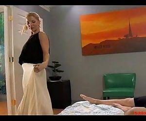 Mother Preparing Son..