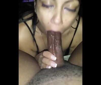 Latina Milf Sucking BBC
