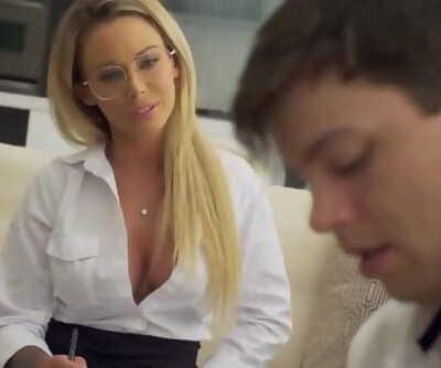 When the Blonde Teacher..
