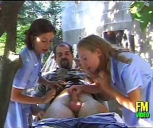 Two sexy nurses come on..