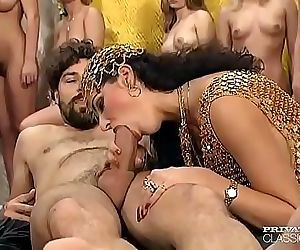 Vintage porn orgy from..