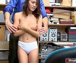 Asian shoplifter fucked..