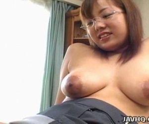 Busty Japanese babe..