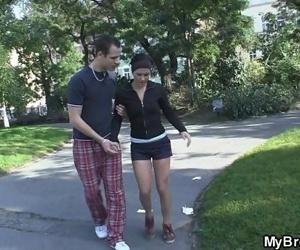 Slutty girl gets banged..